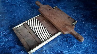Vintage Pill Tablet Roller Maker, Walnut Wood, Brass, Apothecary, Pharmacy