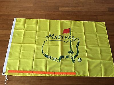 "Rare Undated Yellow Masters Augusta National Golf Club Stadium Flag 60"" x 36"""
