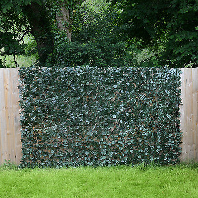 Artificial Ivy Leaf Hedge Roll Screening Privacy Screen Garden Fence 1.5m x 3m