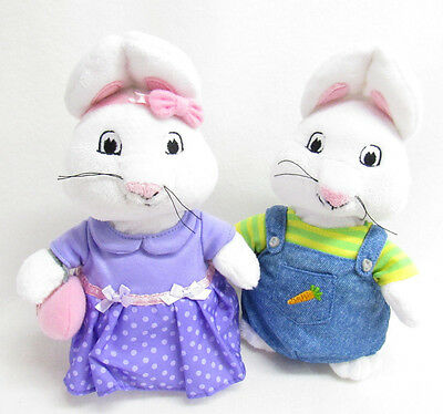 Max And Ruby Rabbit Stuffed Plush Dolls 9.5 Inches Barnes And Nobles Exclusive