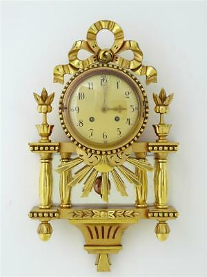 1940's SWEDISH GILT ORNATE WALL CLOCK BY WESTERSTRAND