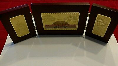 Beautifully Crafted Rosewood Folding Memento Of Beijings Historical Sights