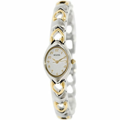 Bulova New Women's Textured MOP Dial Two-Tone Bracelet Dress Watch 98V02