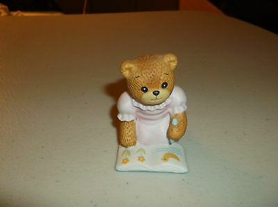 Lucy Rigg & Me Girl Bear Figurine Coloring Duck/Flowers,1986