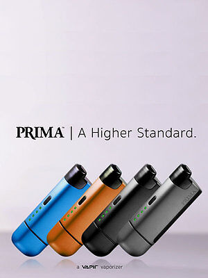 Vapir Prima Handheld Vaporiser - Black, Blue, Silver or Orange - Free UK P&P