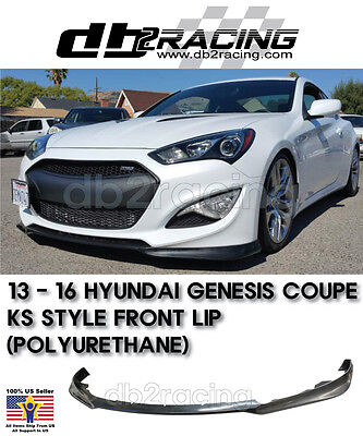 FITS FOR 2013-16 HYUNDAI GENESIS COUPE KDM KS STYLE FRONT BUMPER LIP SPLITTER