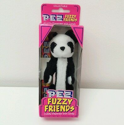 Dakin Fuzzy Friends Pez Dispenser with Candy Panda Animal New Collectible Toy