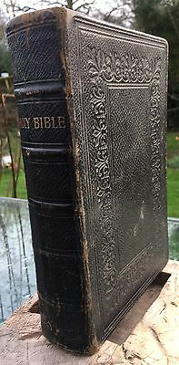 1881 George E Eyre & William Spottiswoode Leather Bound Bible Old -New Testament