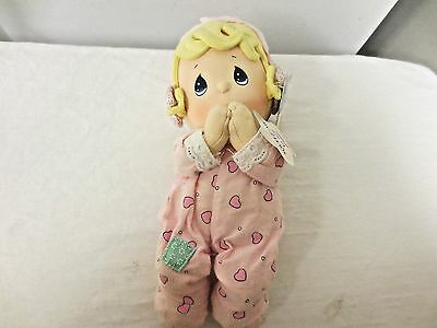 "Older Precious Moments Luv'n care Prayer Pal 10"" Cloth Doll-Not Working-Hang Tag"