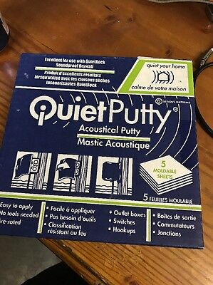 5 pads 1 Box Quietputty Acoustical Putty Pads Soundproofing/Fire Rated