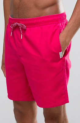 HOLLISTER Mens Swim Shorts in Red size S - Brand New
