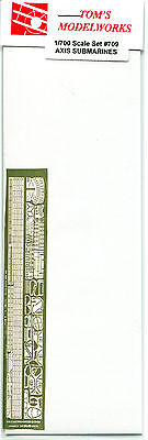 Tom's Modelworks #709 Axis Submarines 1/700 Photo Etched Parts