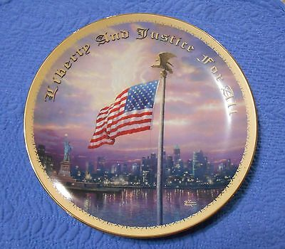 Light of Freedom Plate by Thomas Kinkade God Bless America Collection Plate