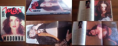 Max Complete Magazine Madonna Cover Italy 1989 With Poster