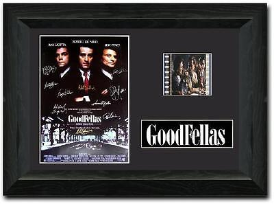 Goodfellas 35 mm Framed Film Cell Display Signed Stunning Collectible