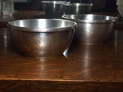 2 Christofle silver plate hotel ware bowls Made in France