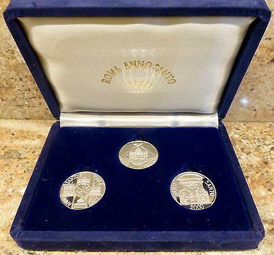 3 COIN SET - ROMA ANNO SANTO 2000 - Sterling Silver Vatican Medals