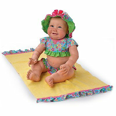 Ashton Drake -  Beach Baby Poseable Baby Girl Doll in a Bikini by Sherry Miller