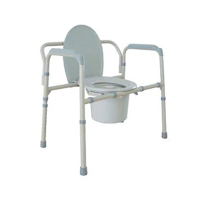 Heavy Duty Bariatric Folding Bedside Commode Seat 11117N-1 By Drive Medical Dura