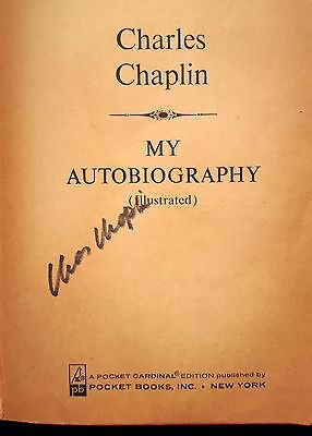 "1966 CHARLIE (Charles) CHAPLIN signed autographed ""My Autobiography"" book"