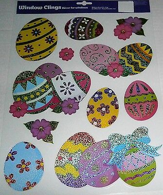 EASTER  Window Clings DECORATED EASTER EGGS
