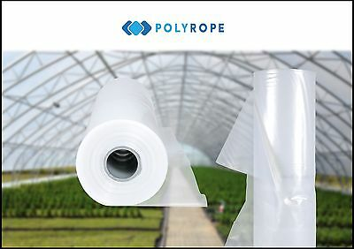 8m x 33 meters UV4 ROLL CLEAR POLYTHENE SHEETING GREENHOUSE FOIL MEMBRANE