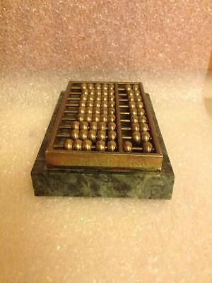 brass abacus chinese calculator soap stone base