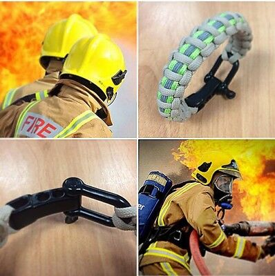 KMP Firefighter Paracord Wristband Tribute, Support, Fireman, Rescue