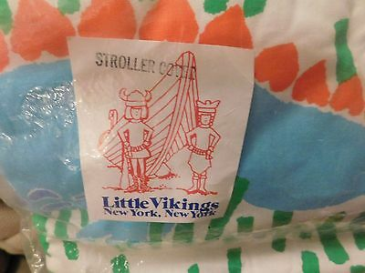 Stroller Cushion Cover Pad by Little Viking~Brand NEW~100% Cotton~Cute