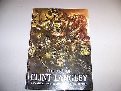 """WH40K the art of Clint Langley """"dark visions from the grim worlds of warhammer"""""""