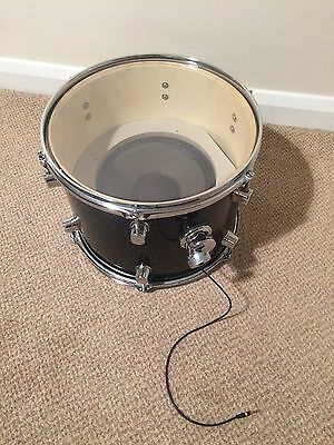 Upcycled Repurposed Tom Drum Portable Speaker with Aux Jack