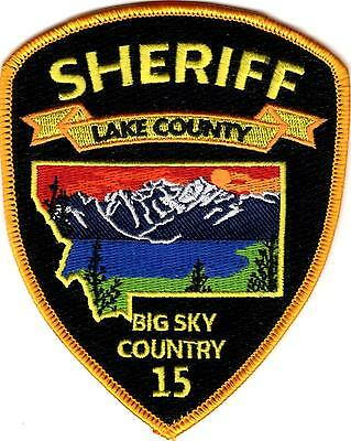 Lake County Sheriff Big Sky Country 15 Police Patch Montana MT NEW