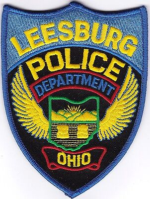 Leesburg Police Ohio OH  patch NEW!!
