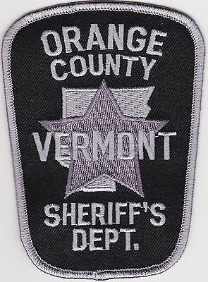 Orange County Sheriffs Department  subdue Police Patch Vermont VT NEW