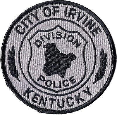 City of Irvine subdued Police Patch Kentucky KY NEW