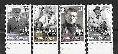 South Georgia 2016 NEW ISSUE Shackleton 100 Years  MNH