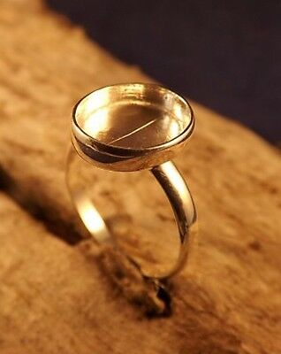 Sterling Silver Ring Setting Blank. Plain. Stamped.