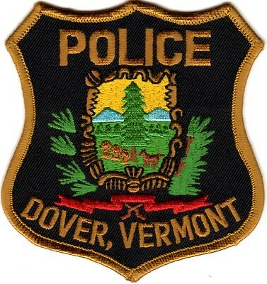 Dover Police Patch Vermont VT NEW