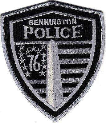 Bennington silver Police Patch Vermont VT NEW