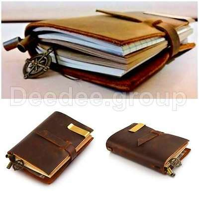 Genuine Leather Cover Notebook Travel Journal Diary Blank Paper Handmade Vintage