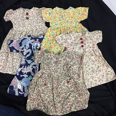 Lot of 5 Sasha doll Dresses Handmade Clothing Floral Tropical
