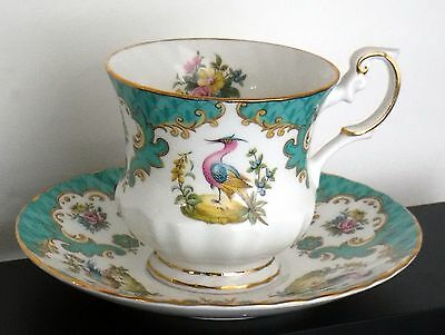 QUEENS ROSINA Cup and Saucer Bird and Florals