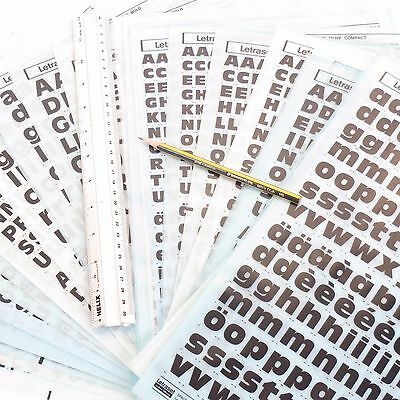 Letraset ANTIQUE OLIVE Rub On Transfer Lettering CHOOSE SIZE/STYLE +%Discounts