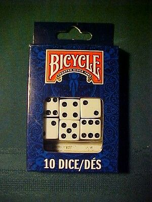 New Bicycle 10 Dice 6 Sided Playing Set Game