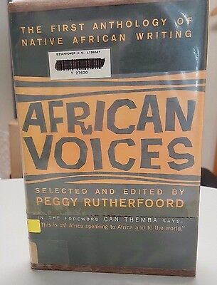 AFRICAN VOICES First Anthology of Native African Writing Peggy Rutherfoord 1958