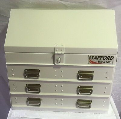 Stafford Steel Fabricated 3 Drawer Heavy Duty Angled Ute Tool Box.