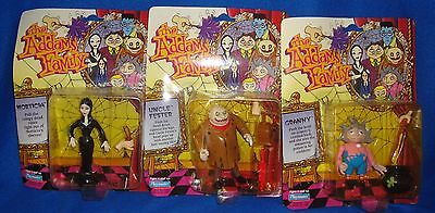 The Addams Family Figure Lot of 3 All Carded