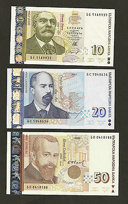 2006 ~ 08 Bulgaria 10/20/50 Leva Uncirculated Set
