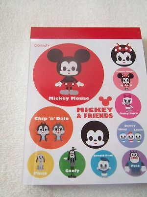 Disney Mickey Mouse and friends mini memo pad white