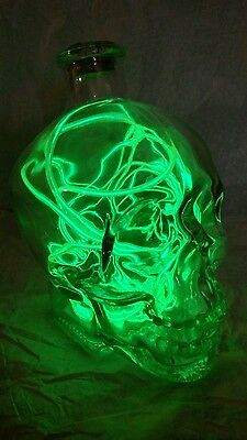 Glass Skull Mood Light Neon Green